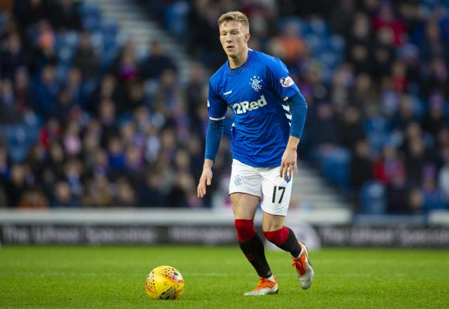 Ross McCrorie in action for Rangers