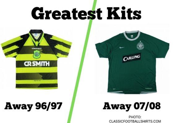 In the last vote of the opening round of our Greatest Kits poll, we have Celtic's away shirt from 1996/97 up against the away strip from 2007/08.