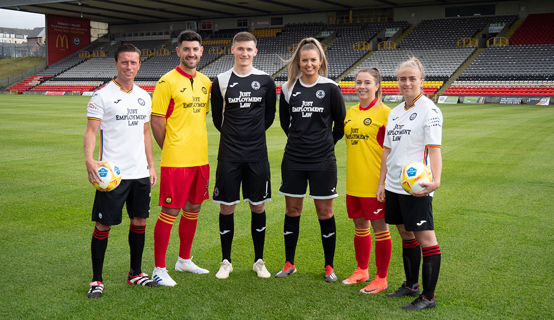 Praise for Partick Thistle as it launches away kit with LGBT+ flag colours