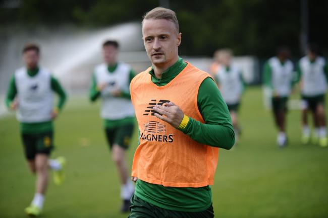 Leigh Griffiths was back among the goals as he played for Celtic for the first time since December.