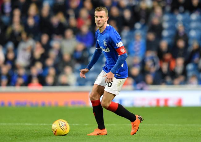 Andy Halliday in action for Rangers