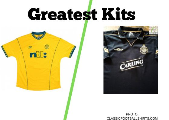 In today's Greatest Kits poll, we have Celtic away shirt from the 2000/01 season up against the club's away strip from 2003/04.