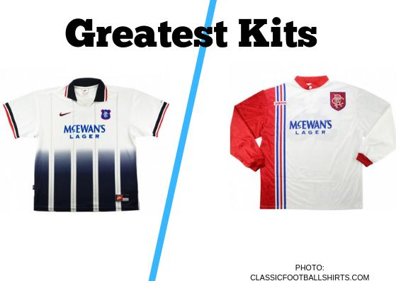 In the latest of our Greatest Kits polls, we have Rangers' away strip from the 1997/98 season up against the club's away top from 1995/96.