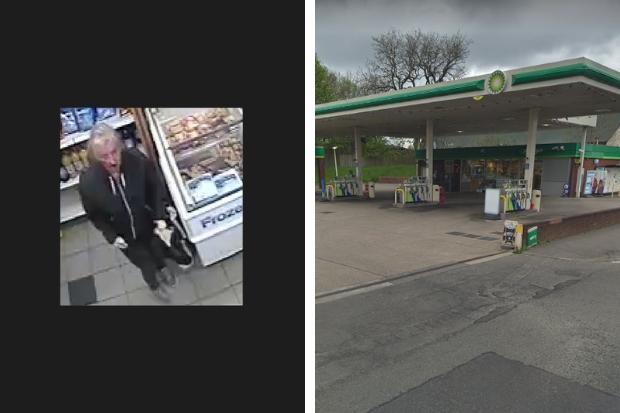 Cops release CCTV after man is threatened with knife in BP Garage robbery bid