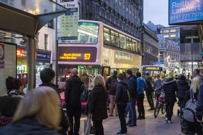 Union St in Glasgow City Centre is to close for 12 weeks to build the latest section of the Fastlink bus route to the Queen Elizabeth University Hospital....Mark F Gibson / Gibson Digital .infogibsondigital@gmail.co.uk.www.gibsondigital.co.uk..All images