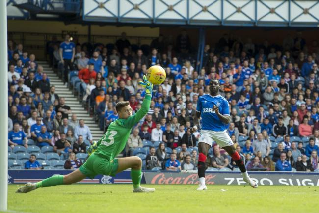 Sheyi Ojo scored Rangers' fourth goal in the 5-0 win over Oxford PHOTO: PA