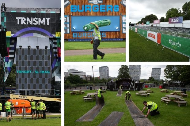 TRNSMT Glasgow Green site prepares to open for weekend