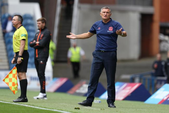 Blackburn manager Tony Mowbray during the pre-season friendly match at Ibrox