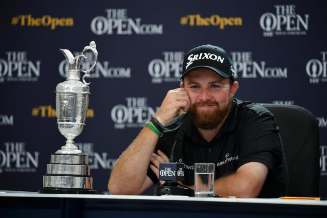 Shane Lowry with the Claret Jug after his Open win