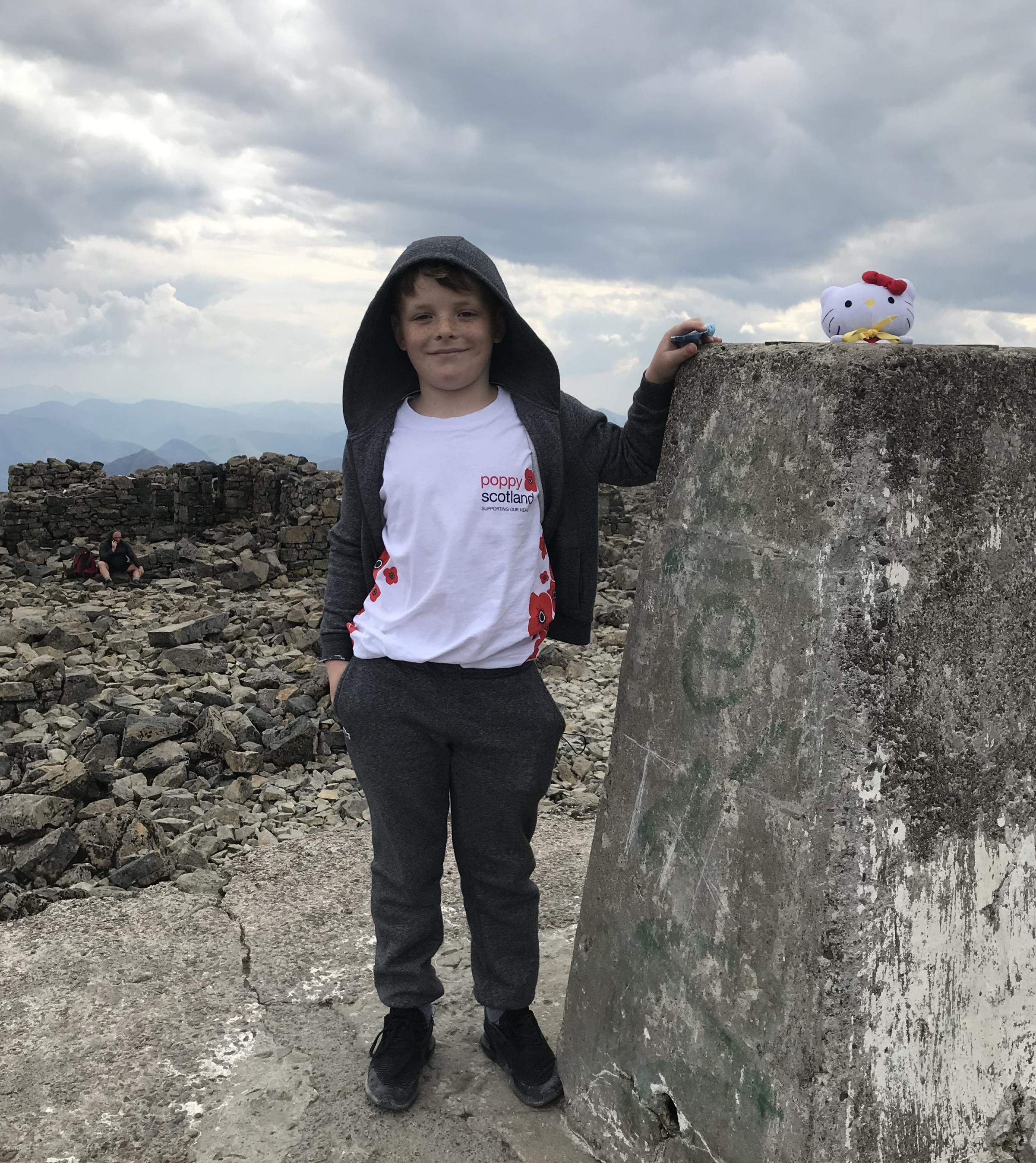 Soldiers inspire Jack, 8, to hit the heights on Ben Nevis