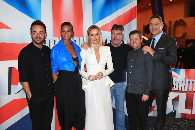 Anthony McPartlin, Alesha Dixon, Amanda Holden, Simon Cowell, Declan Donnelly and David Walliams attend the auditions for Britain's Got Talent