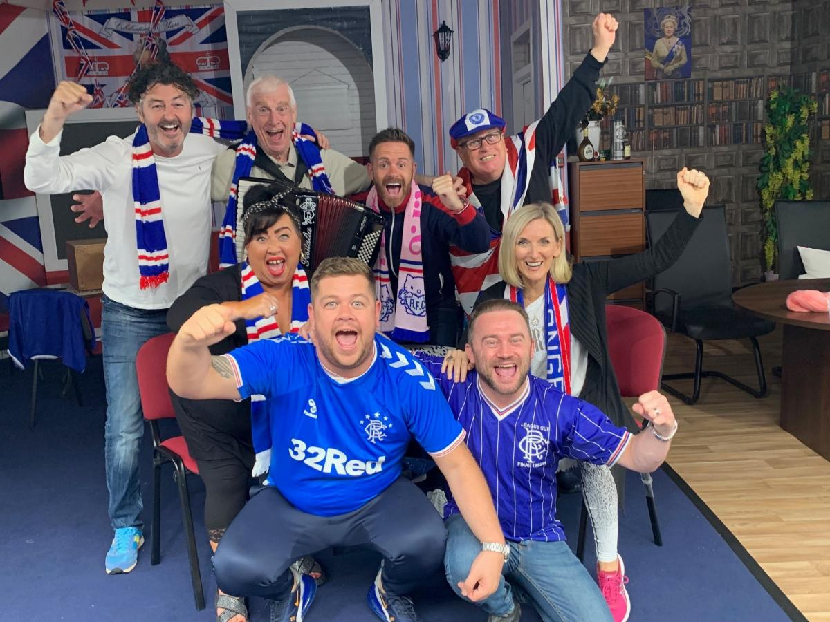 Stephen Purdon shows off Rangers top ahead of Pavilion opening