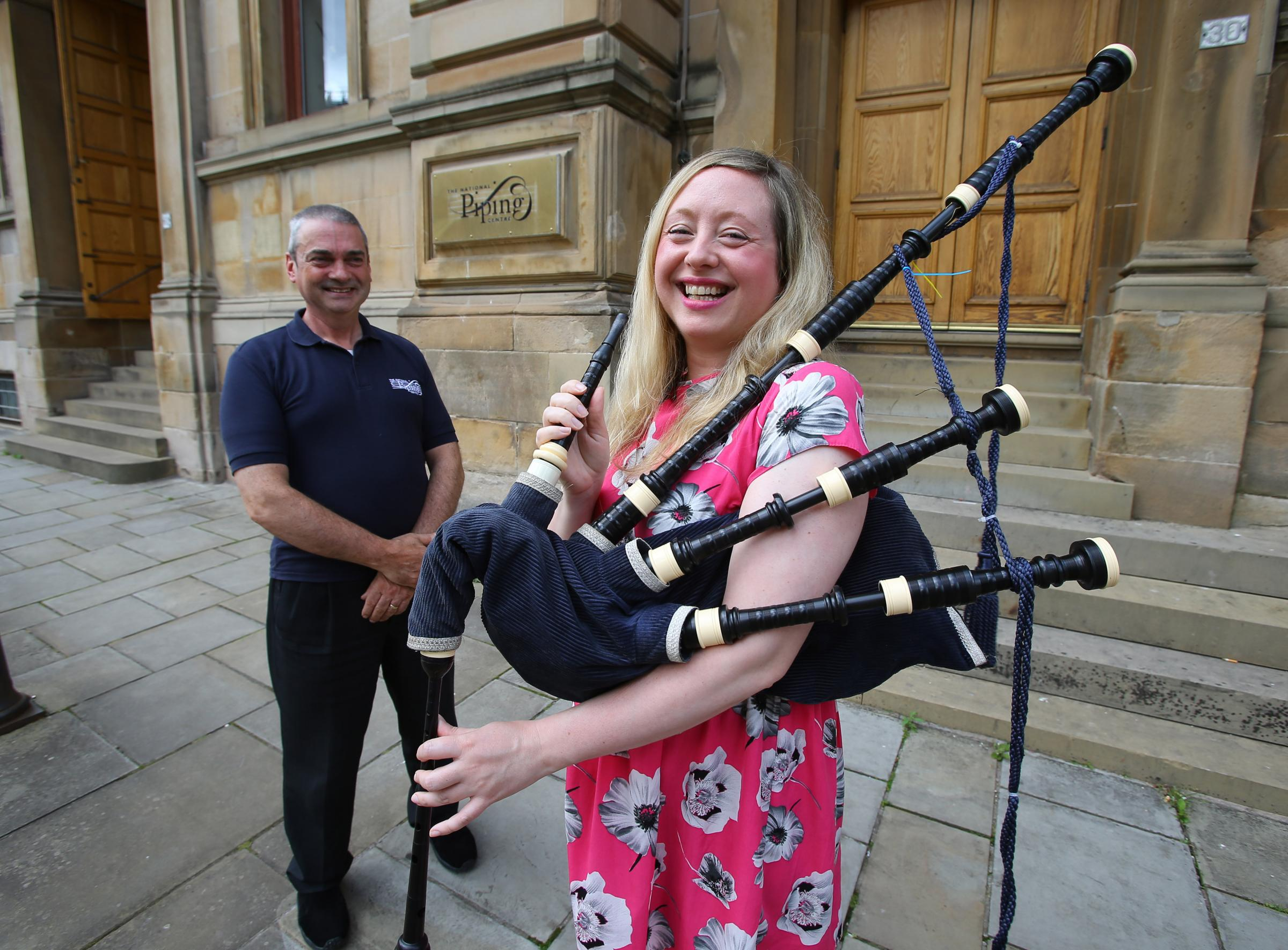 Ahead of Piping Live! Catriona Stewart learns the bagpipes