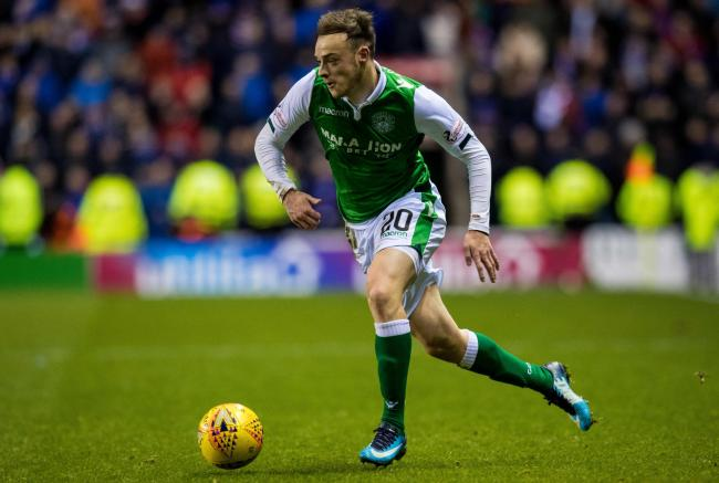 Brandon Barker in action for Hibernian