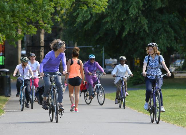 Cycling classes run by Bike For Good   Picture: Colin Mearns