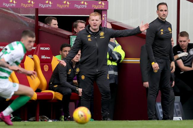 Celtic manager Neil Lennon during the Ladbrokes Scottish Premiership match at Fir Park Stadium, Motherwell. PRESS ASSOCIATION Photo. Picture date: Saturday August 10, 2019. See PA story SOCCER Motherwell. Photo credit should read: Jane Barlow/PA Wire. ED