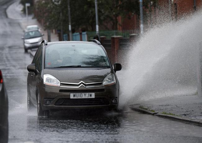 Glasgow rain today was the equivalent of two-weeks average rainfall.