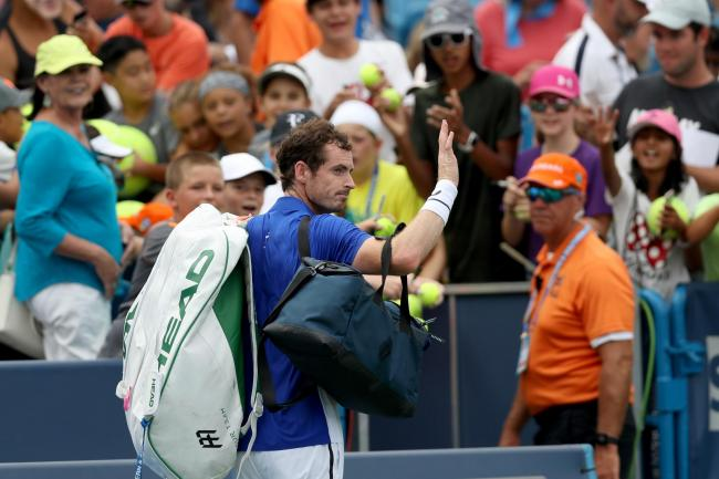 MASON, OHIO - AUGUST 12: Andy Murray of Great Britain levaes the court after losing to Richard Gasquet of France during Day 3 of the Western and Southern Open at Lindner Family Tennis Center on August 12, 2019 in Mason, Ohio. (Photo by Rob Carr/Getty Imag
