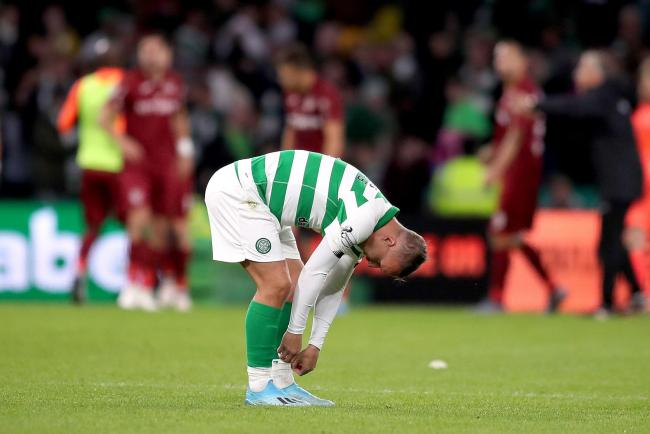 Celtic crashed out of the Champions League on Tuesday night after losing 4-3 to Cluj at Parkhead PHOTO: PA