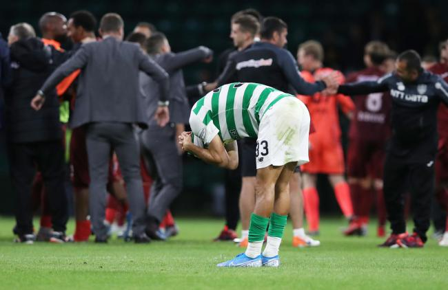 Hatem Abd Elhamed of Celtic at the final whistle. Picture: Ian MacNicol/Getty Images.