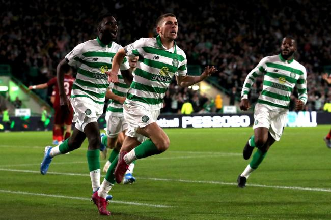 Ryan Christie thought he had sent Celtic through to the play-offs with this goal, but Cluj hit back to stun Celtic Park.