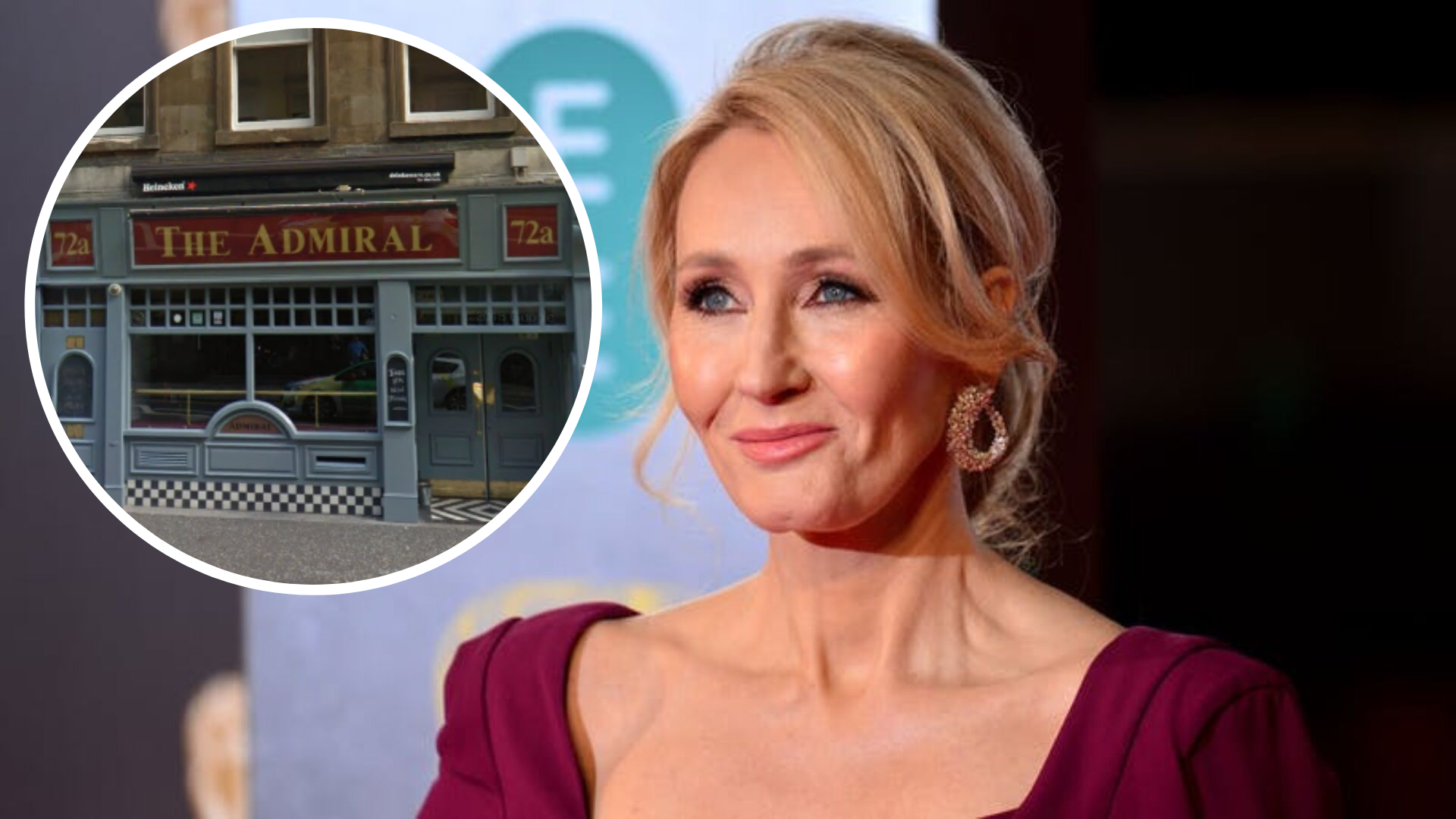 JK Rowling spotted in Glasgow's Admiral Bar while supporting husband's band