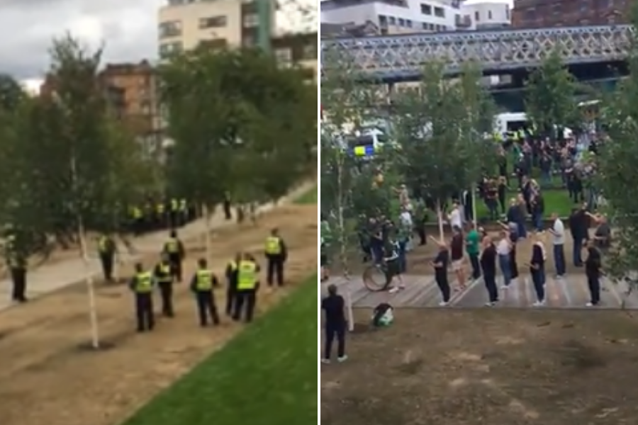 Heavy police presence at Irish hunger strike rally in Glasgow