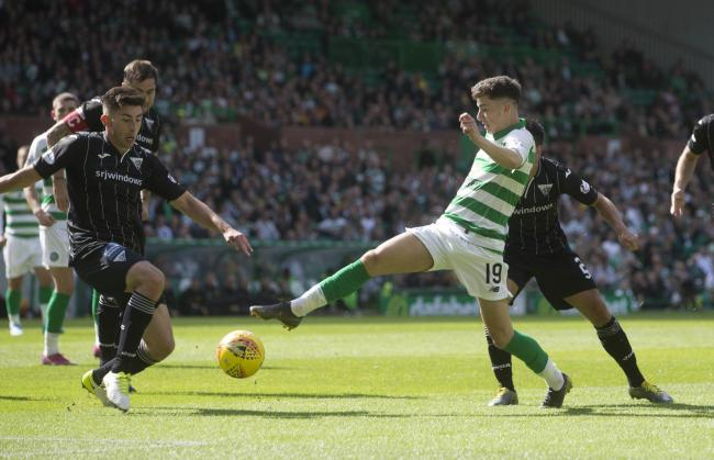 Celtic winger Mikey Johnston in action earlier this season. Picture: Jeff Holmes/PA Wire.