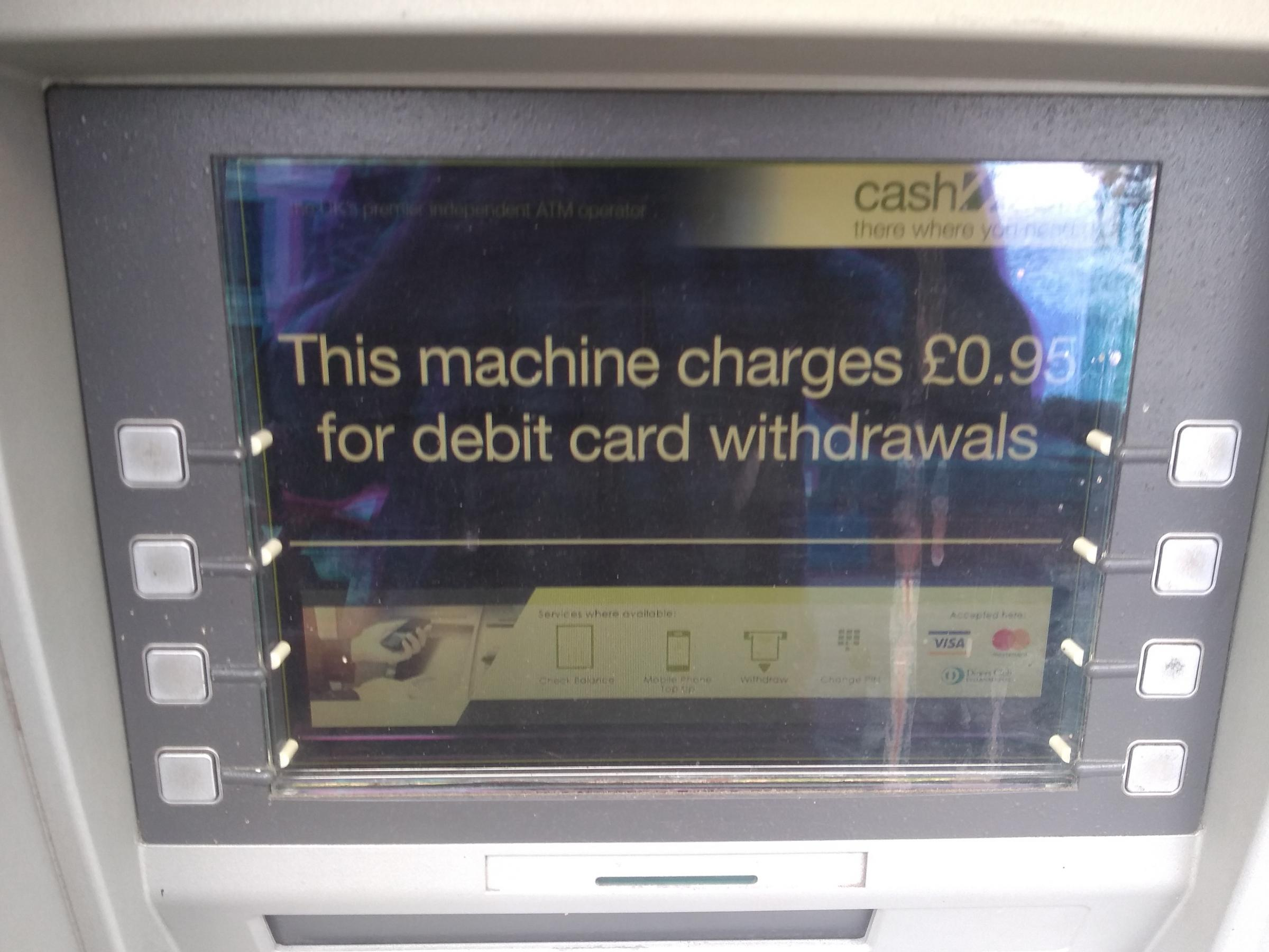 Illegal ATMs charging residents in poorer areas to access cash