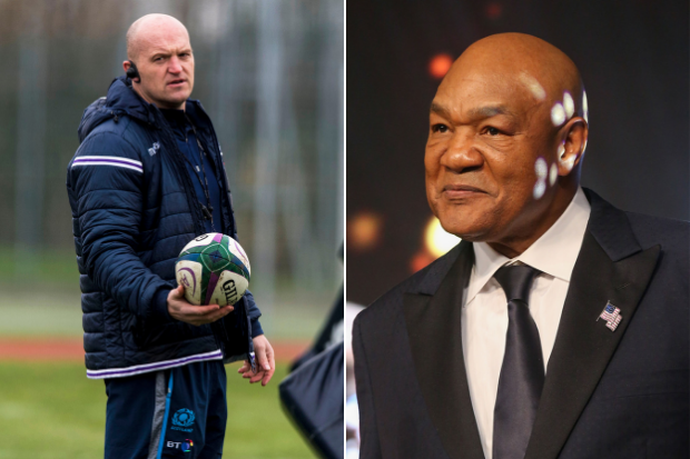 Boxing icon George Foreman's bizarre bucket-list wish for Scotland to win Rugby World Cup