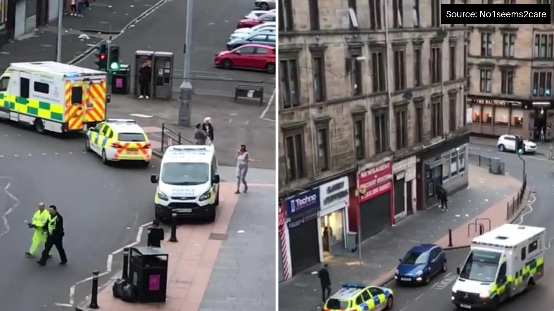 Emergency services race to north Glasgow Saracen Street after woman takes unwell in street
