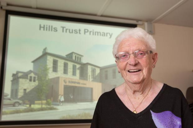 Former pupil Annie Smyth, 91, from Cranhill. Pic:Robert Perry