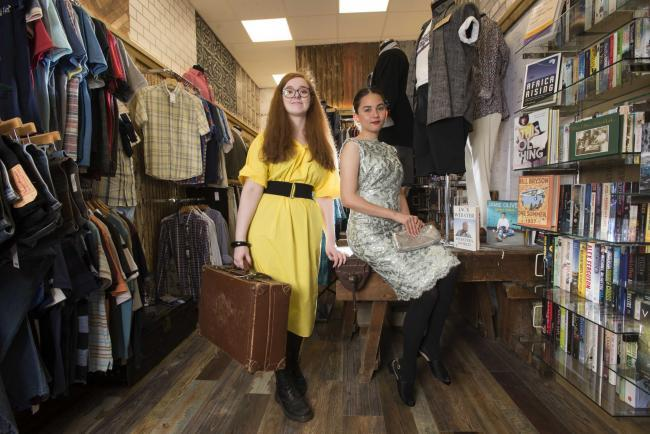 Pic: Chris McNulty. Kilmacolm charity shop has designer goods thanks to donations
