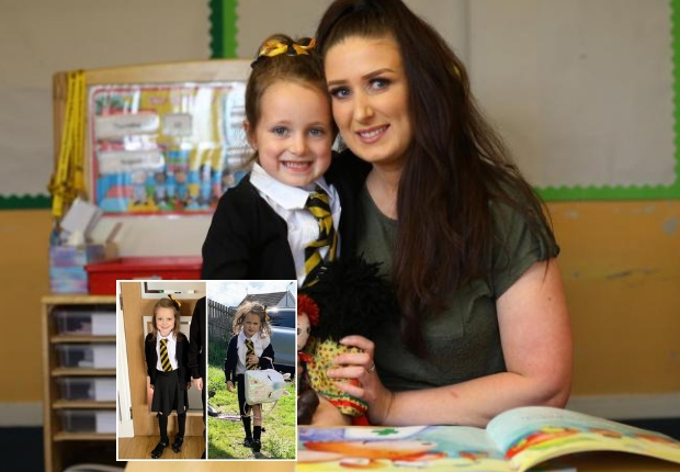 Schoolgirl goes viral with photo of first day in Neilston Primary