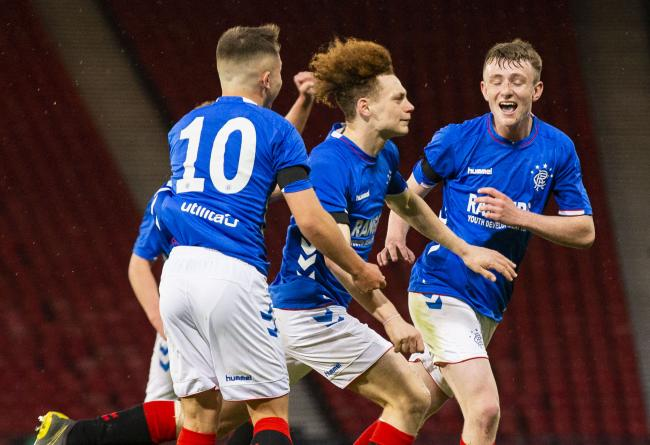 Nathan Young-Coombes' second-half goal proved to be the winner for Rangers in a thrilling 4-3 win over Ajax PHOTO: SNS