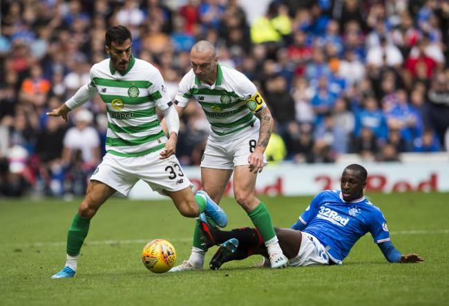 Rangers midfielder Glen Kamara was subbed off at half-time against Celtic PHOTO: PA