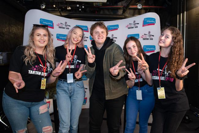 Lewis Capaldi was 'interviewed' by Brownies and Girl Guides
