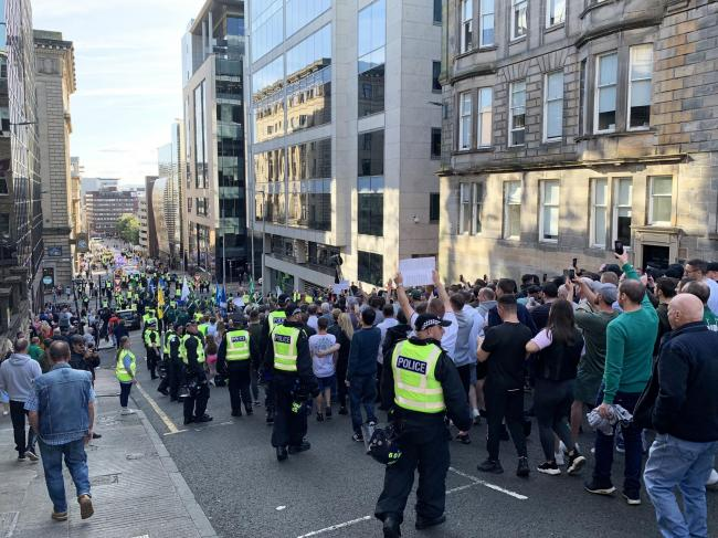 Dissident Republican group 'stand firmly' with Glasgow marchers after weekend of chaos