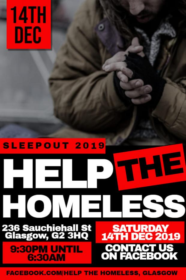 Evening Times: Help the Homeless are holding a sleepout in Glasgow