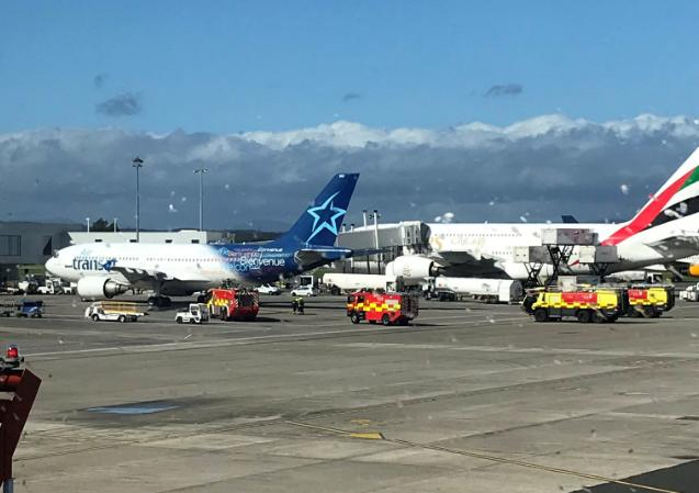 Four fire crews can be seen on the tarmac (Image: Barry Robertson)