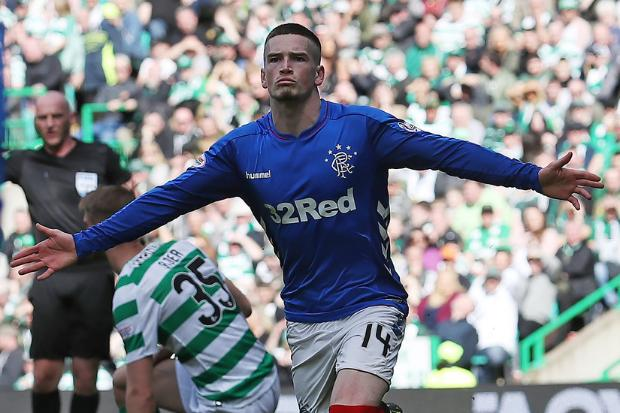 Ryan Kent pictured in full training with Rangers teammates for first time since signing from Liverpool