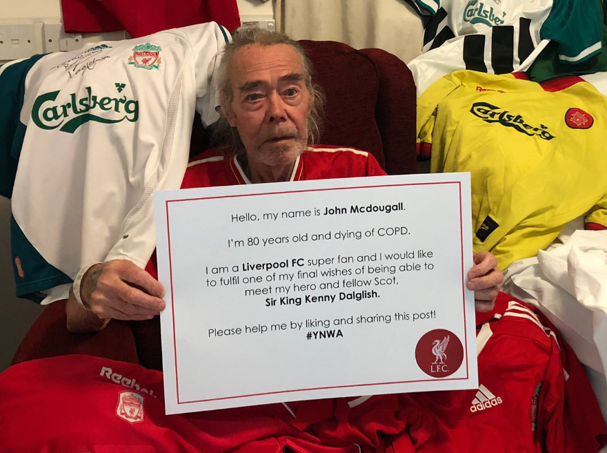 Glasgow man in emotional dying wish to meet hero Sir Kenny Dalglish