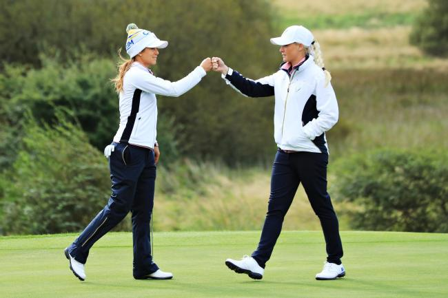 Team Europe still lead at the 16th Solheim Cup