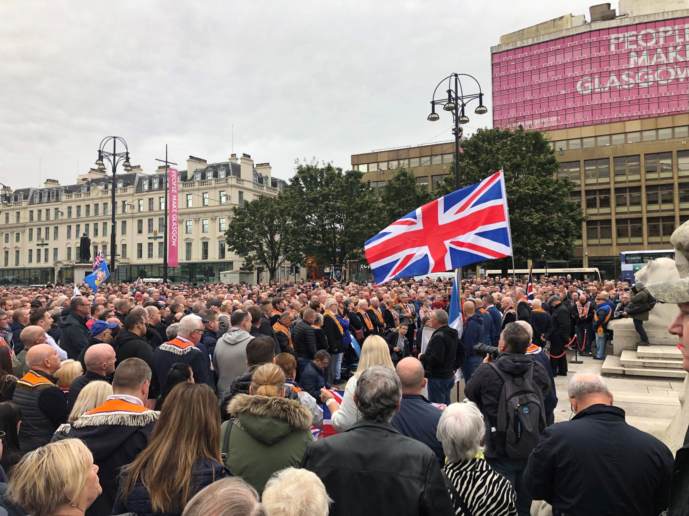 Protestant group speaks out after George Square demonstration