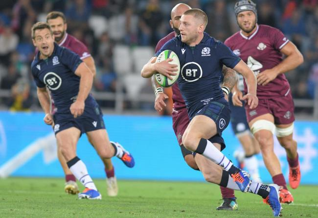 Finn Russell breaks out with ball during the rugby international match between Georgia and Scotland. Picture: Getty