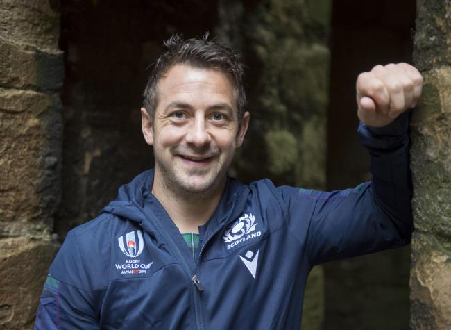 Scotland's Greig Laidlaw during the squad announcement at Linlithgow Palace. Picture: PA