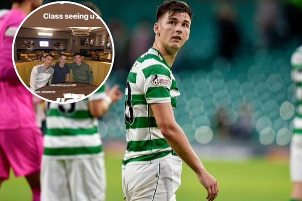 Arsenal star Kieran Tierney reunites with former Celtic teammate Jozo Simunovic in London