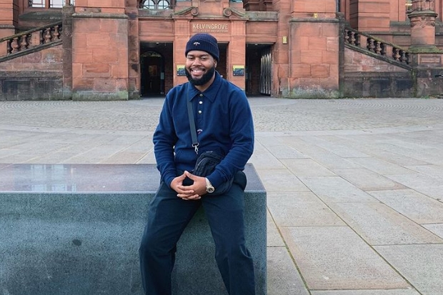 US superstar Khalid spotted outside Kelvingrove Art Gallery and Museum ahead of Hydro show