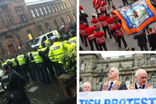 Police Scotland quizzed over unannounced stop and search at Loyalist protest in Glasgow
