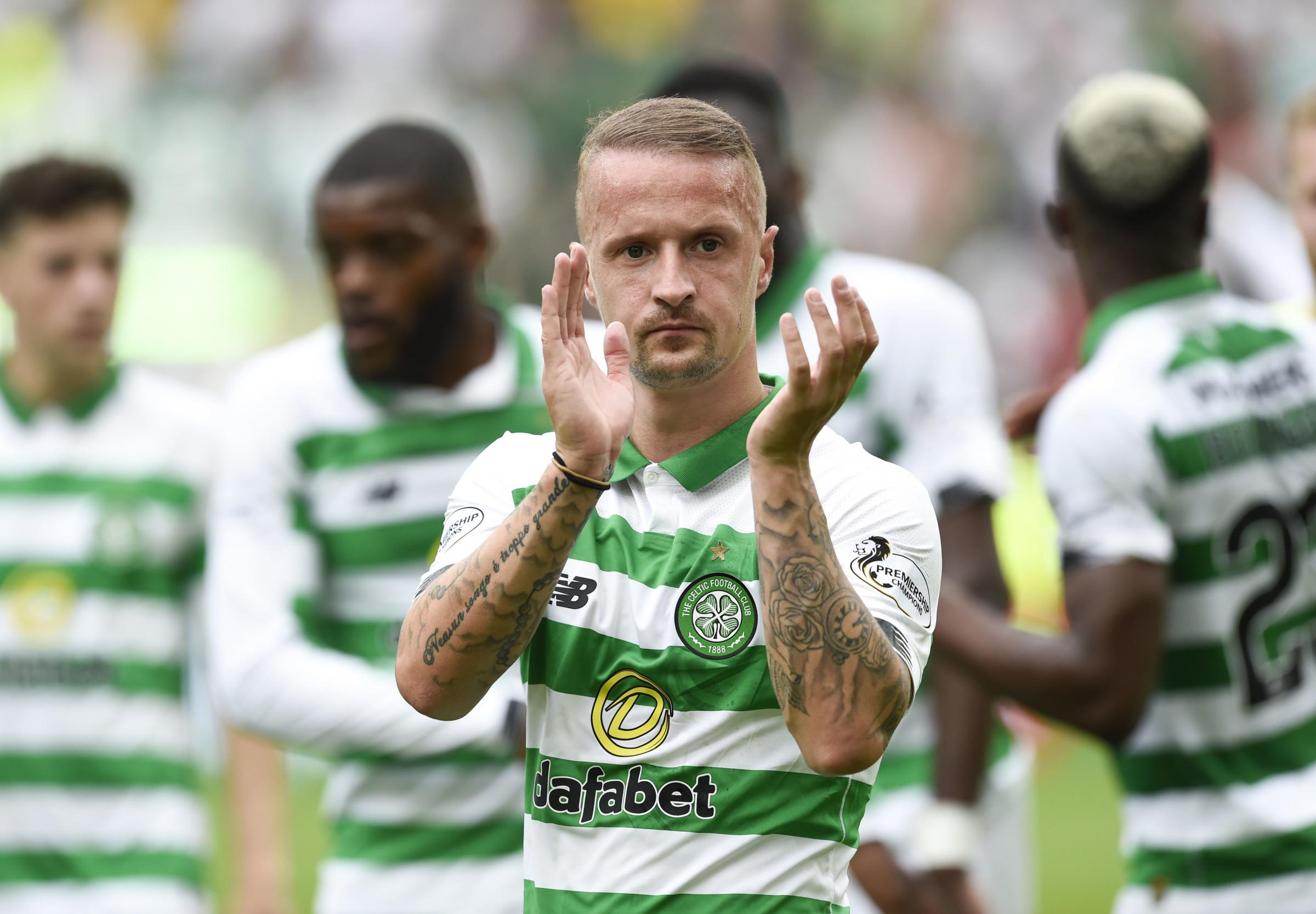 Celtic's Leigh Griffiths silences Hearts fan after he's trolled over Edinburgh derby result